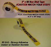 Caution Watch Your Step Non Skid Non Slip Grip Tape