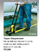 TAPE APPLICATION MACHINE - Applies Pavement & Vinyl Tapes