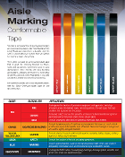 VINYL FLOOR TAPE -  Warehouse Marking - 6 Colors - 5 Widths