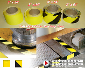 Tuff Mark Yellow and Yellow Black Floor Marking Tape