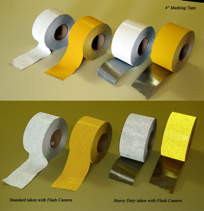 pavement marking striping tape yellow white